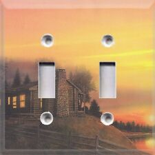 Cabin On The Lake At Sunset ~ Light Switch Cover ~ Home Decor