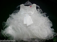 White Christening Flower Girl Bridesmaid Pageant Wedding Party 0-24m Xmas Easter