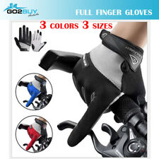GIANT Cycling Bicycle Bike Blue Full Finger Antiskid Silicone Gel Gloves