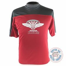 Innova AIR FORCE Rapid-Dry Short Sleeve Disc Golf Jersey - RED / GRAY