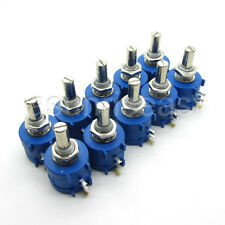 1/2/4/5PCS 500 1K 2K 5K 10K 20K 50K 100K 3590S Rotary Potentiometer Pot 10 Turn