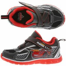 DISNEY CARS LIGHT WEIGHT BLACK KIDS/ TODDLER VELCRO UP TENNIS SHOES/SNEAKERS~NEW