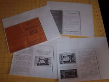 You Choose Copied Sewing Machine Manual: Atlas, Glennen, Royal, Ideal, Franklin