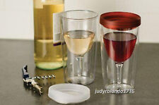 Vino2Go  Portable  Wine To Go Insulated Double WallTumblers With Slide Top Lids