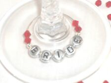 20 x Wine Glass Charms Parties,Weddings Favours,Hen Party custom made Bride