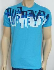 Hurley One & Only Staggerly Mens Premium Fit Turquoise Blue T-Shirt NWT