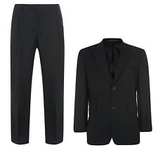 New Voeut Dantay Men's Big Kingsize Black 2 Piece Suit Work Office Wedding Party
