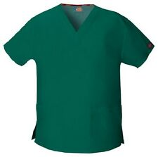Dickies Scrubs V Neck Scrub Top Dickies EDS 86706 Signature Hunter Green