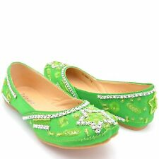 GIRLS CHILDREN'S BEADED KHUSSA BRIDAL SHOES MOJA WEDDING PARTY FANCY DRESSY SIZE