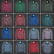 Abercrombie & Fitch Mens Muscle Fit Long Sleeve Button Plaid Shirt NWT!