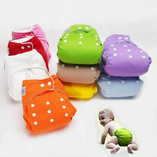 Adjustable Reusable Washable Baby Infant Soft Cloth Diaper Nappy A Size Fit All