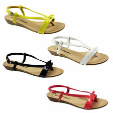 NEW WOMENS LADIES LEATHER INSOLES SUMMER BEACH SANDALS LOW WEDGE HEEL SHOES SIZE