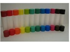 10 New empty lip balm chapstick tubes/caps You choose the color tubes and caps