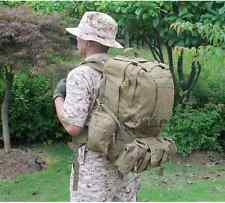 Outdoor backpack Military Camouflage waterproof Nylon Travel Rucksack 55L New