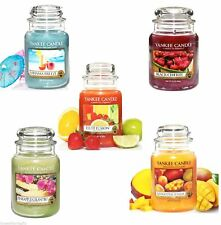 YANKEE CANDLE LARGE 22oz JAR FRUIT COLLECTION - 110-150 HOURS BURN TIME.