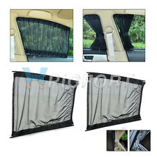 2 pcs 50cm Adjustable Sunshade Visor Car Window Curtain 3 colors S and L