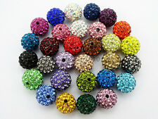 Quality Czech Crystal Rhinestones Pave Clay Round Disco Ball Spacer Loose Beads
