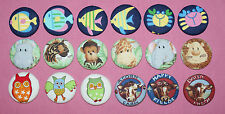 CUTE ANIMALS FABRIC COVERED BUTTONS available in 40mm size