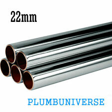 Chrome plated copper pipe/tube 22mm x different sizes available
