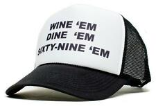 New WINE 'em DINE SIXTY-NINE 69 Dumb and Dumber Sea-bass Hat Cap Curved Bill