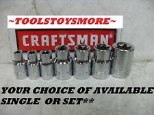 "NEW CRAFTSMAN 1/4"" & 3/8"" DRIVE EXTERNAL FEMALE TORX BIT SOCKET~CHOOSE SIZE"