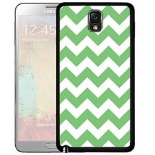 Green Chevron Pattern Hard Cell Phone Case For Samsung Galaxy Note 2 Note 3