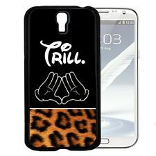 Trill with Cartoon Hands and Cheetah Print Hard Case For Samsung Galaxy S3 S4