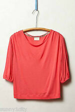 NEW Sz S Anthropologie Half-Sleeve Scoopneck By Deletta, Comfy relaxed elegance