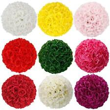 New 4.72-5.5inch/12-14cm Silk Rose Pomander Flower Kissing Ball Wedding Party