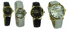 Basic Gents Ladies Leather Watch Analogue Small Dial Display Classic Retro New