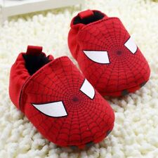 Adorable Baby Boy  Toddler  Spider-Man Red Crib Shoes  Pre Walkers