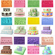 Various Silicone Fondant & Gum paste Mold Cake Lace Embosser Decorating Mould