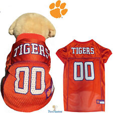 NCAA Pet Fan Gear CLEMSON TIGERS Dog Jersey Shirt Tank for Dogs BIG SIZE XS-2XL