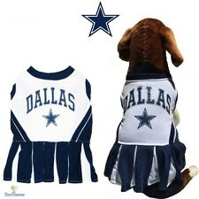 NFL Pet Fan Gear DALLAS COWBOYS Cheerleader Dress Outfit for Dog Dogs Puppy