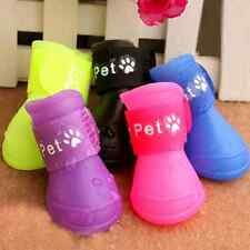 Fashion Candy Color Pet Dogs Rain Boots Waterproof Shoes Sandals Spring Summer