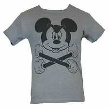 Mickey Mouse (Disney) Mens T-Shirt - Mickey and Crossbones Image