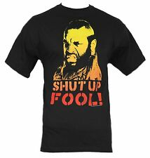 "Mr. T Mens T-Shirt - ""Shut Up Fool"" Color Face Image of The A-Team Star"