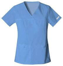 Cherokee Scrubs Flexibles V Neck Scrub Top 2968 Ceil Blue