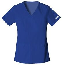 Cherokee Scrubs Flexibles V Neck Scrub Top 2968 Galaxy Blue