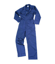 NEW MENS BOILER SUIT OVERALL COVERALL MECHANIC COLLEGE WORK NAVY BLUE S- 3XL