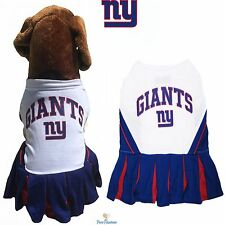NFL Pet Fan Gear NEW YORK GIANTS Cheerleader Outfit Dress for Dog Dogs Puppy