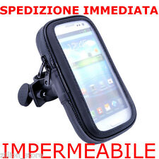 Custodia Case Cover Impermeabile Supporto Gancio Manubrio Bici Moto x iPhone