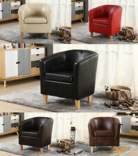 FoxHunter Tub Chair Armchair Faux Leather Dining Room Office Lounge Furniture