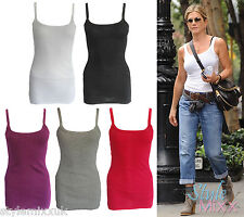 Ladies RIBBED Summer Top Womens Fitness Vest Gym Sports Sleeveless Tank Top S-XL