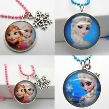 New Disney lovely FROZEN Elsa Snowflake Necklaces Pendants CUTE For Girls Women