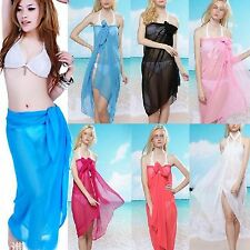 Sexy Women Chiffon Wrap Pareo Dress Sarong Beach Bikini Swimwear Cover Up Scarf