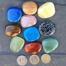 Gemstone worry palm  healing stone. choice of 10 different crystals. Reiki