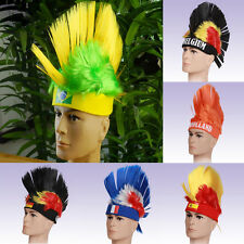 Hot 2014 Brazil World Cup Football Hairpiece National Fans Olympic Wig Hats NC14