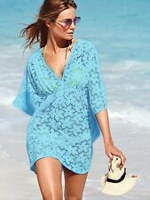 Women Summer Sexy Lace Floral Short Sleeve Swimwear Bikini Cover Up Beach Dress