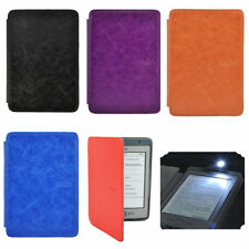 Ultra Thin Hard Back Leather Case Cover With Built-in LED Light For Kindle 4 / 5
